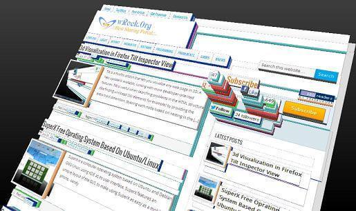 View Surf Website In 3d Using Firefox Tilt Inspector