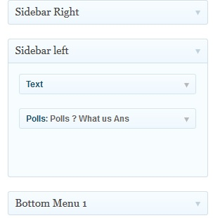 sidebar in WordPress theme