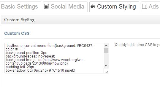 Custom CSS Styling