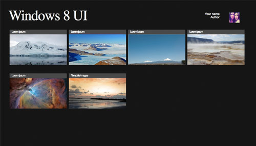 Windows 8 UI Photography template