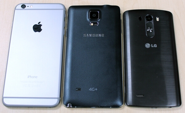 Apple iPhone 6 Plus vs Samsung Galaxy Note 4 vs LG G3
