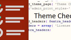 WordPress Theme check Issue