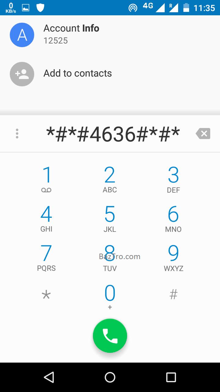 Motorola testing menu
