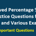 Solved Percentage Practice Questions